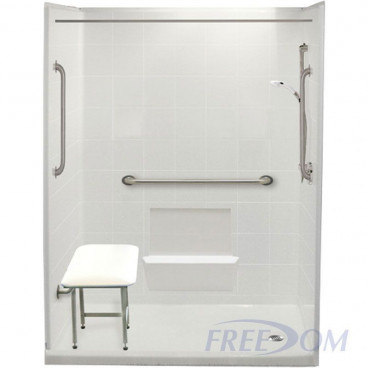 freedom easy step walk in shower package