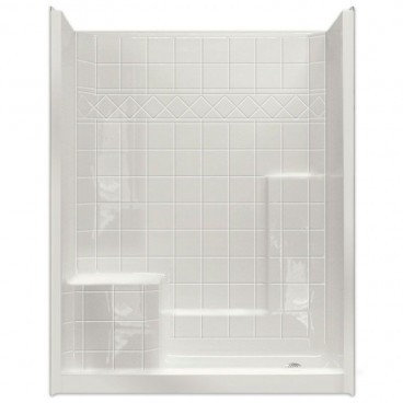 60 inch x 36 inch Easy Step Shower Left seat