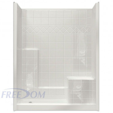 easy step shower with right molded seat one piece