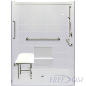 "60"" x 49"" Freedom Accessible Shower"