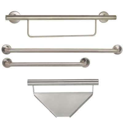 Contractor Shower Bar Package, Satin