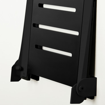 fold up shower seat in black