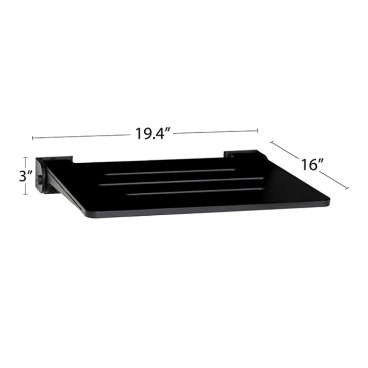 fold up shower seat dimensions