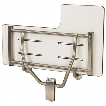 "34½"" x 22½"" ADA Reversible Shower Seat, Wall Supported, Phenolic Solid WHITE"