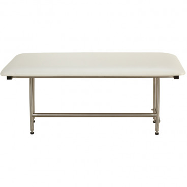 "30"" x 15"" Folding Bench with legs, Padded WHITE"