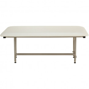 "32"" x 15"" Folding Bench with legs, Padded WHITE"