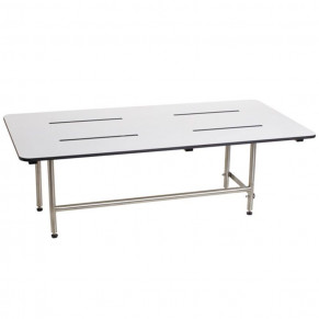"48"" x 24"" Folding Bench with legs, Phenolic WHITE Solid"