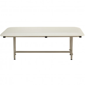 "48"" x 24"" Folding Bench with legs, Padded WHITE"