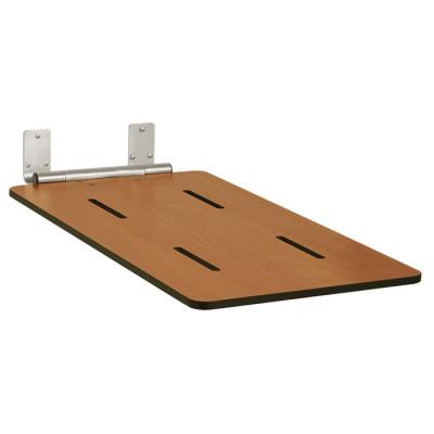 "32"" x 16"" Folding Bathtub Seat, End Hung, Phenolic Solid Woodgrain"