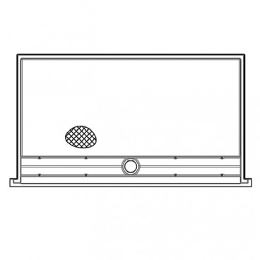 "66"" x 36⅛"" ADA Linear Drain Roll In Shower Pan, COL"