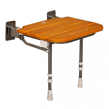 rubberwood folding shower bench