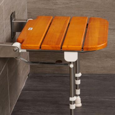 wood shower seat