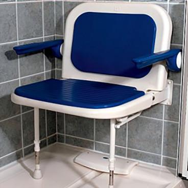 shower chair in shower