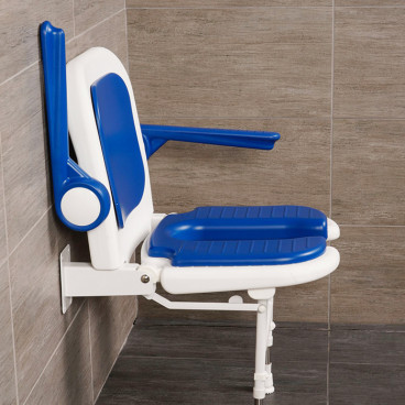 u shaped shower seat with arms