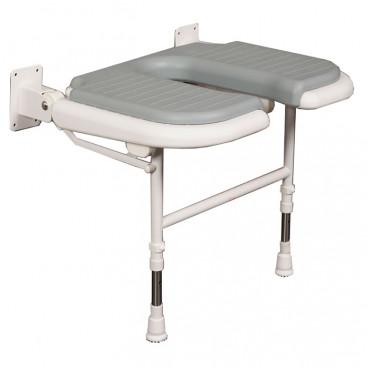 Wide U Shaped folding shower seat GRAY Pad