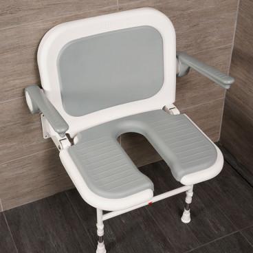 u shaped  shower bench