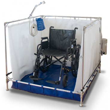 portable shower for bariatric