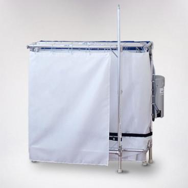 portable shower recliner folded