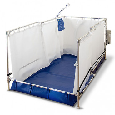 "36"" x 76"" x 36"" Recliner Portable Shower"