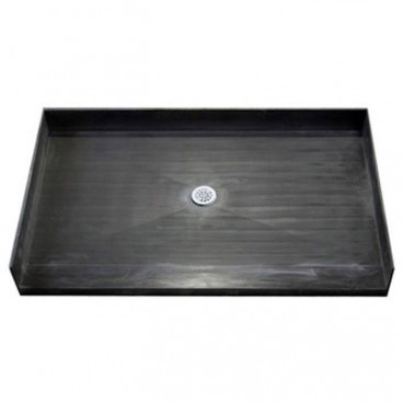 "48"" X 38"" Tile Over Accessible Shower Pan, CENTER Drain"