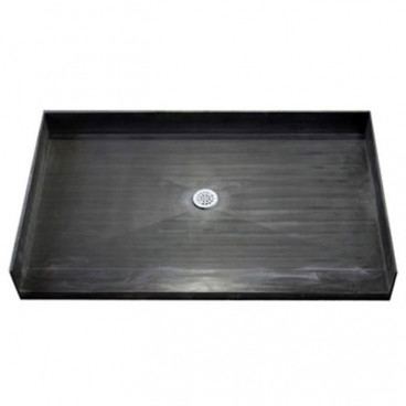 "72"" x 37"" Tile Over Accessible Shower Pan, CENTER Drain"