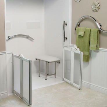 half height shower doors