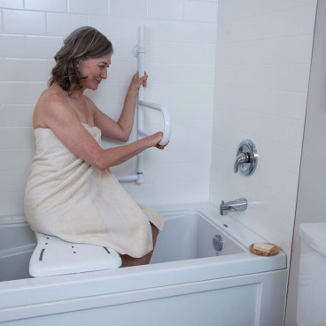 white bath safety bar