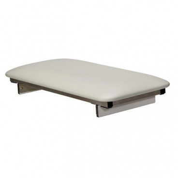 30 x 14 inch Portable Bathtub Transfer Seat, White padded top, adjustable stabilizing posts