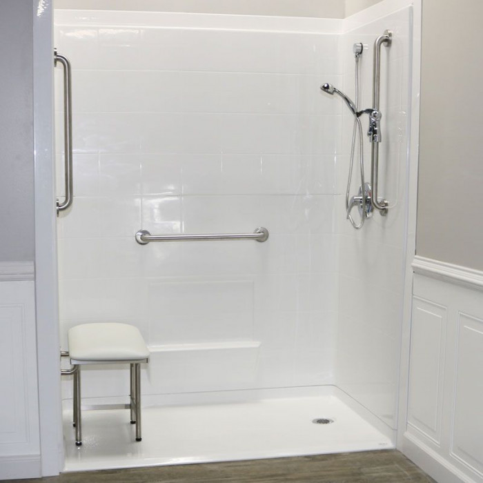 Freedom Accessible Shower Right Drain 5 Piece 60 Quot X 31 Quot