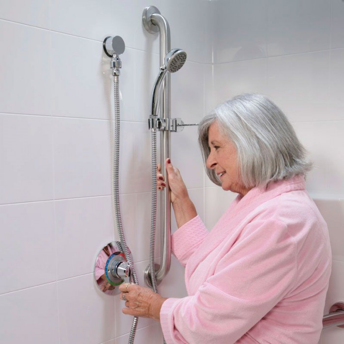 Handheld Shower Kit With Glide Bar For Freedom Showers