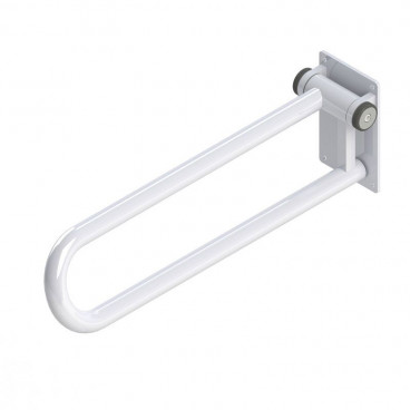 Fold up Side of Toilet Rail, White RIGHT