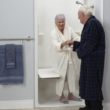 ada transfer shower for senior-living