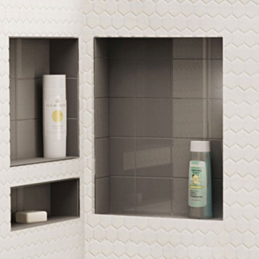 "Tile Over Soap Niche, 16"" x 20"" Single Shelf"