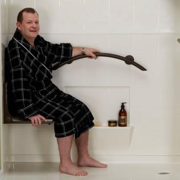 bronze fold up shower seat
