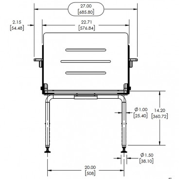 bariatric shower bench seat measurements
