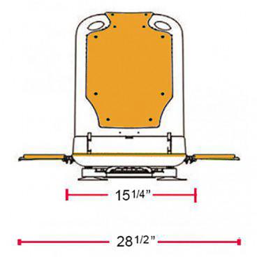 bath lift chair sizes
