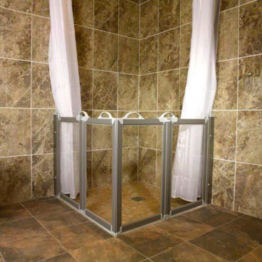 caregiver shower doors for wet room