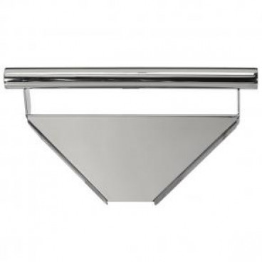 corner shelf with integrated grab bar polished