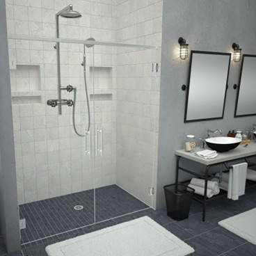 barrier free tiled shower pan