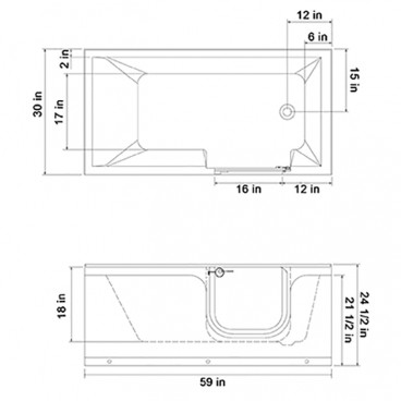 easy access step in tub