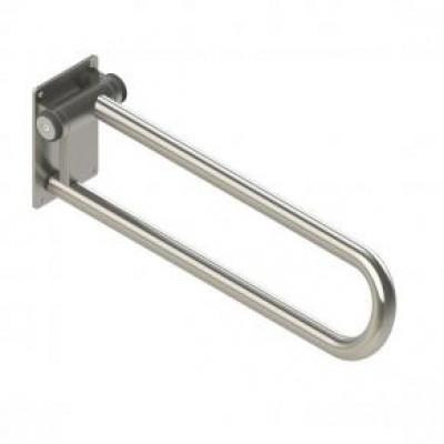 Fold up Side of Toilet Rail, Stainless
