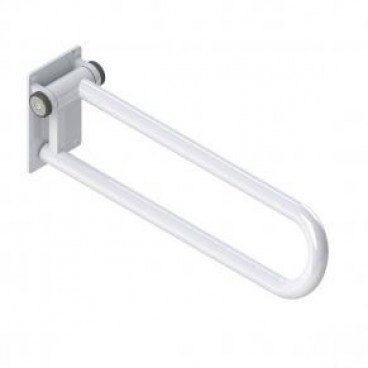 Fold up Side of Toilet Rail, powder coated white finish, left