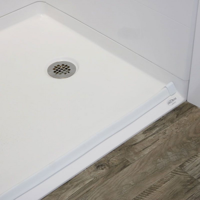 Zero Threshold Shower Pan.Freedom Zero Threshold Shower Pan Right Drain 54 X 36