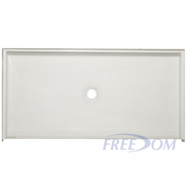 "62 7/16"" x 32 1/4"" Freedom ADA Shower Pan, CENTER Drain"