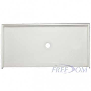 "60"" x 33⅜"" Freedom Accessible Shower Pan, CENTER Drain"