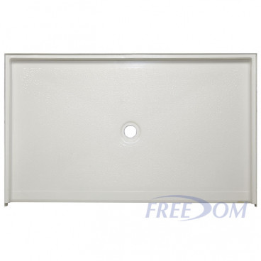 "60"" x 37"" Freedom Accessible Shower Pan, CENTER DRAIN"