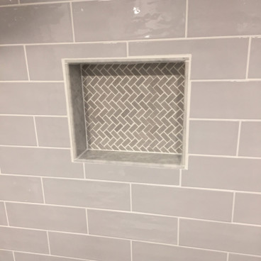 "Tile Over Soap Niche, 16"" x 14"" Single Shelf"