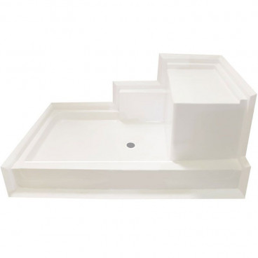 shower pan with seat