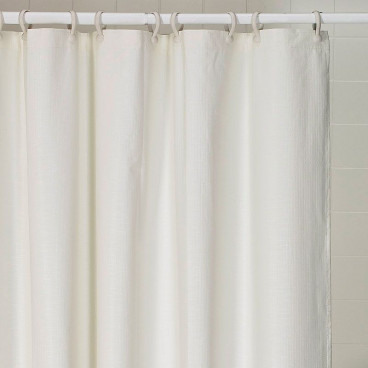 weighted vinyl shower curtain 66 x 72 white cream