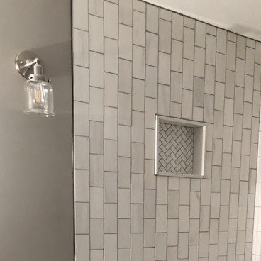 tiled niche for the shower
